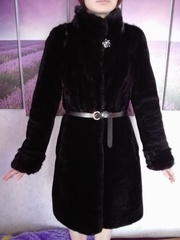 Продам шубу норка + мутон;  Куртка черная зимняя - холлофайбер
